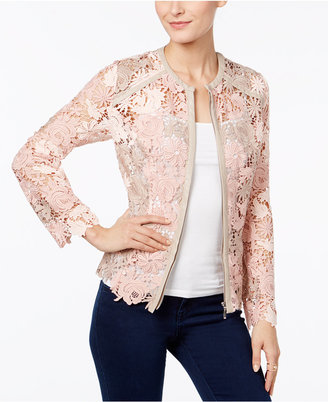 INC International Concepts Lace Jacket, Only at Macy's $159.50 thestylecure.com