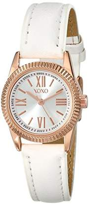 XOXO Women's XO3408 Analog Display Analog Quartz White Watch