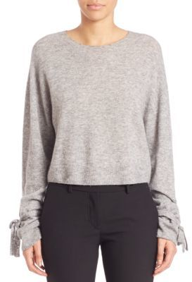 Helmut Lang Cropped Merino Wool Blend Pullover $360 thestylecure.com