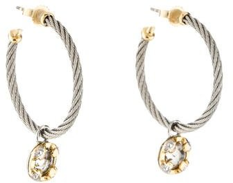 Charriol Charriol White Topaz Cable Hoop Earrings