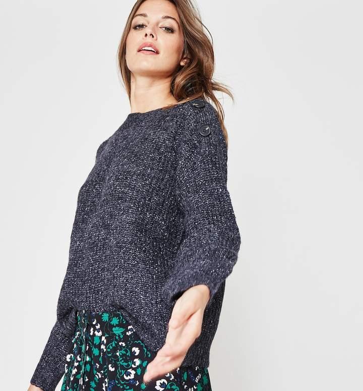 Button-embellished jumper