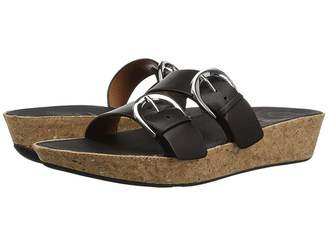 FitFlop Duo-Buckle Slide Sandals - Leather Women's Slide Shoes