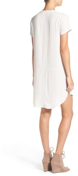 Women's Lush Split Neck Shift Dress 3