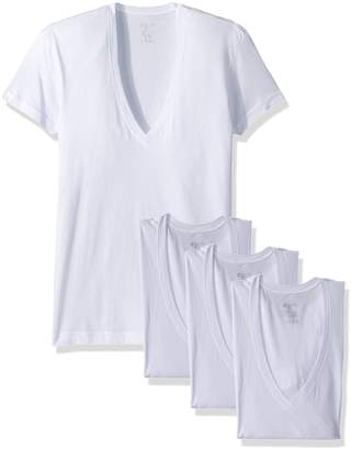 2xist Men's Essential Slim Fit Deep V Neck T-Shirts-3 Pack