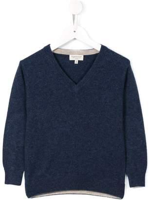 Cashmirino V-neck knitted jumper