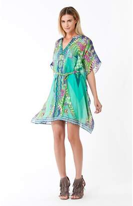 Hale Bob Clover Belted Silk Dress