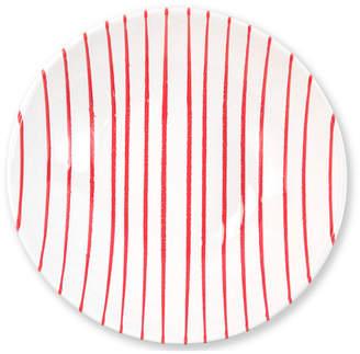 Vietri Net & Stripe Red Stripe Medium Serving Bowl