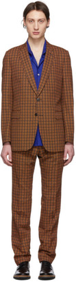 Dries Van Noten Black and Orange Slim Kline Suit