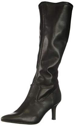 Rampage Women Thaiena Kitten Heel Pointed Toe Knee High Boot