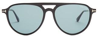 Tom Ford Carlo Aviator Acetate Sunglasses - Mens - Black