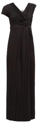 The Row Allure Asymmetric Plisse Gown - Womens - Black