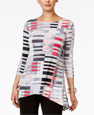 Alfani Printed Asymmetrical Top, Only at Macy's $64.50 thestylecure.com
