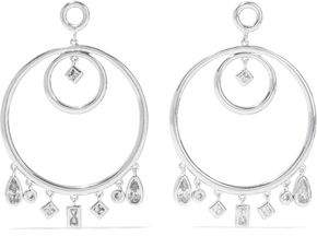 Luv AJ Luv Aj Woman Posie Dangle Crawler Silver-tone Crystal Earrings Silver Size 34FHZ
