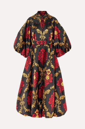 Simone Rocha Belted Brocade Coat - Red