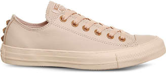 Converse low-top studded leather trainers