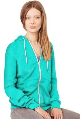 Clementine Apparel Women's Poly-Cotton Fleece Full-Zip Hoodie