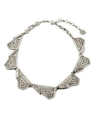 Ben-Amun Crystal Deco Geometric Necklace