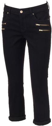 Women's Jennifer Lopez Zipper-Accent Capri Jeans $58 thestylecure.com