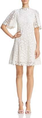 Rebecca Taylor Mock Neck Lace Dress