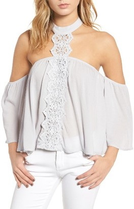 Women's Bp. Crochet Off The Shoulder Halter Top $49 thestylecure.com