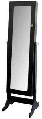 Hodedah Standing Mirror with Jewelry Storage