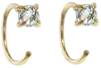 Melissa Joy Manning Sky Blue Topaz Hug Hoop Earrings - Yellow Gold