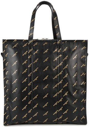 Balenciaga Medium Black gold Logo Bazar Shopper