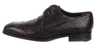 Giorgio Armani Snakeskin Derby Shoes