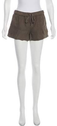 Joie Mid-Rise Linen Shorts