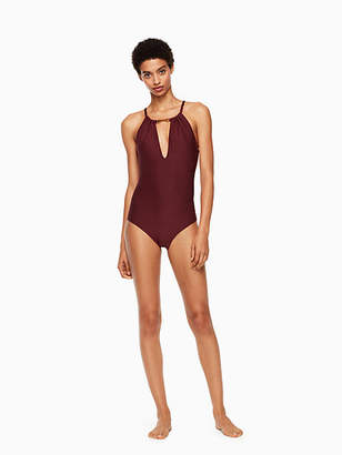 Kate Spade Crescent bay high neck one-piece swimsuit