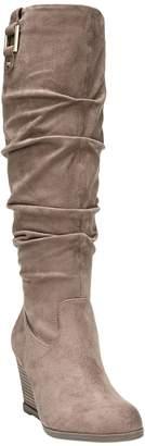 Dr. Scholl's Wide-Calf Memory Foam Wedge Boots- Poe