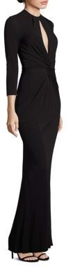 ABS Twist Front Jersey Gown