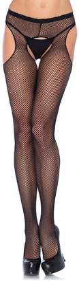 Leg Avenue Women's-Size Fishnet Suspender Pantyhose