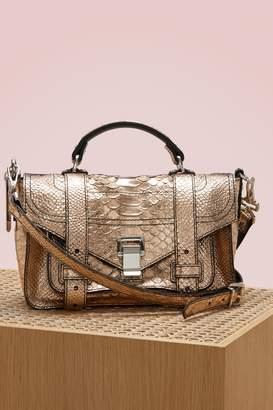 Proenza Schouler PS1+ python embossed shoulder bag