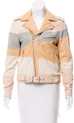 IRO Witney Colorblock Leather Jacket