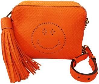 Anya Hindmarch Orange Python Handbag
