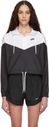 Nike (ナイキ) - Nike ホワイト and ブラック スポーツウェア ウィンドランナー ジャケット