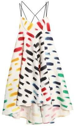 Milly Ruffled Printed Cloqué Maxi Dress