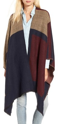 Women's Bp. Colorblock Poncho $39 thestylecure.com