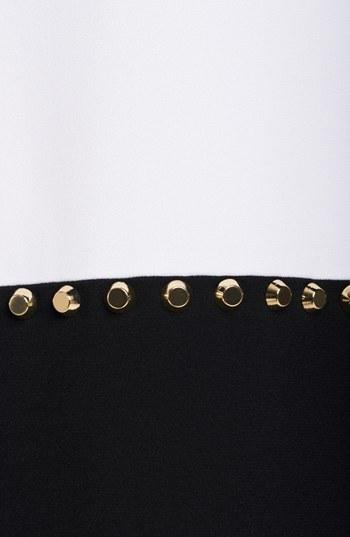 Michael Kors Studded Colorblock Crepe Dress