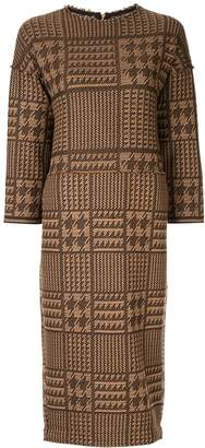 Coohem tech tweed shift dress