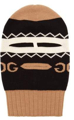 Gucci - Intarsia Wool Balaclava - Mens - Black
