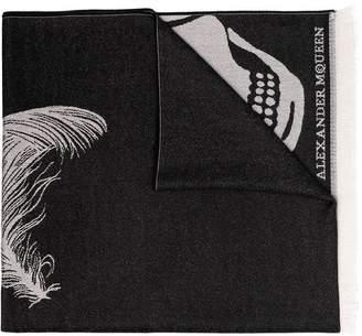Alexander McQueen Oversized Skull Print Scarf
