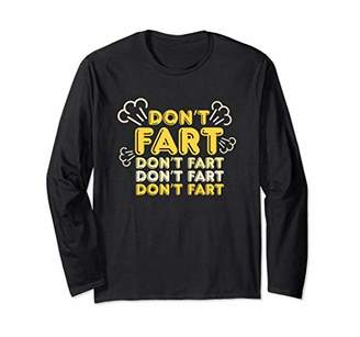 Don't Fart T-Shirt Funny Fitness Gym Workout Squats