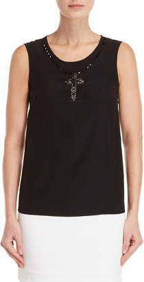 Dolce & Gabbana Embellished Cross Tank