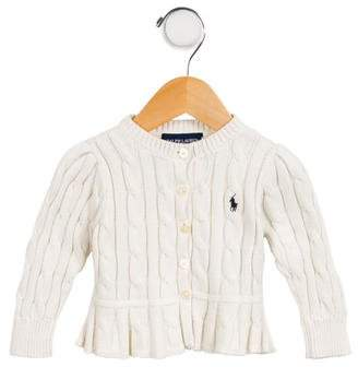 Ralph Lauren Girls' Cable-Knit Button-Up Cardigan