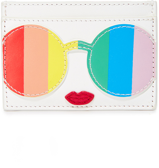 alice + olivia Rainbow Stacey Face Card Case $80 thestylecure.com