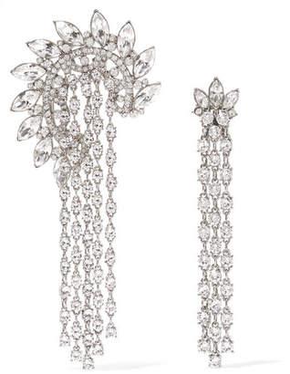 Oscar de la Renta Silver-plated Crystal Earrings