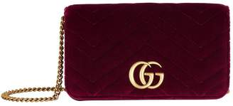 Gucci Mini Velvet Marmont Matelasse Cross Body Bag
