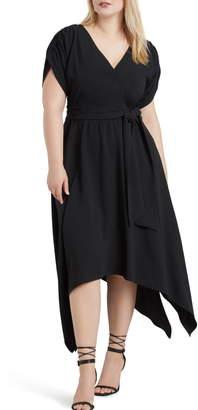 ELOQUII Handkerchief Hem Dress